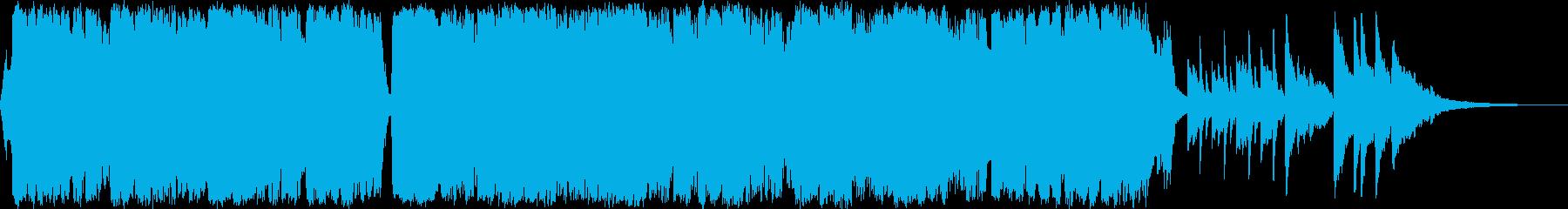 感動的な琴とチェロの和風バラードaの再生済みの波形