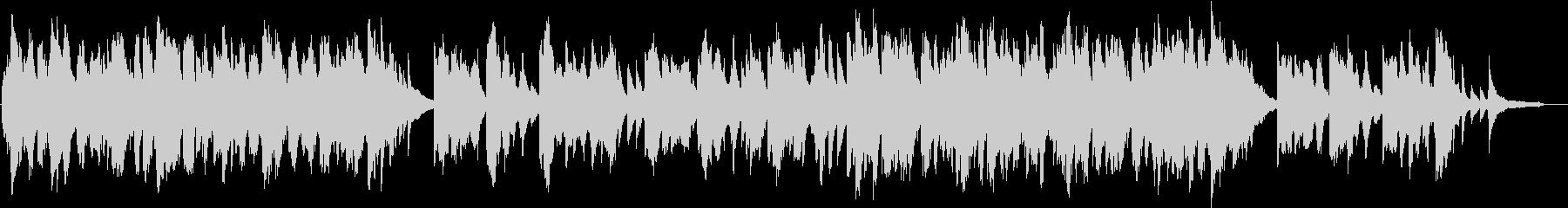 二胡とピアノのしっとりと切ないBGMの未再生の波形