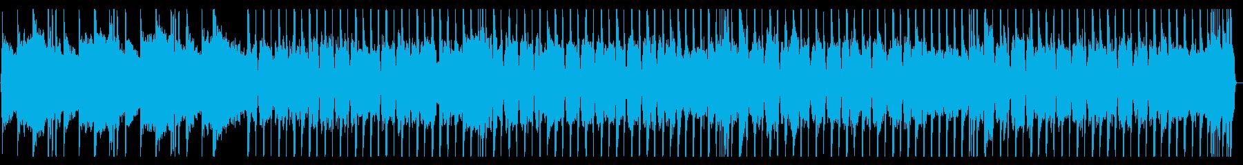 ロックギター、リフが繰り返されるBGM4の再生済みの波形