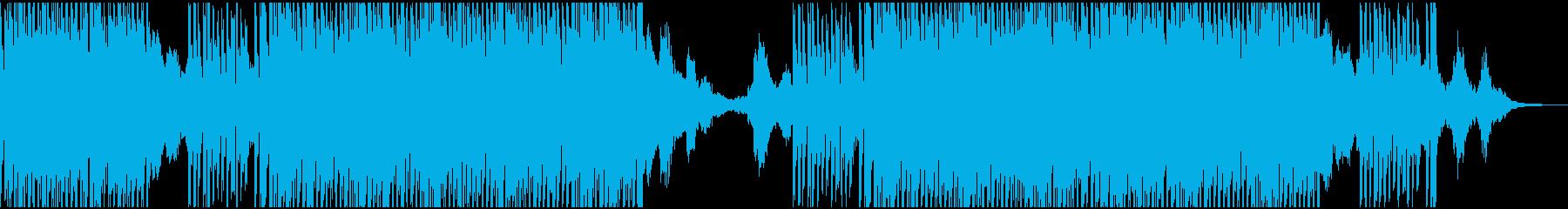 淡々と進行する渋い感じのテクノサウンドの再生済みの波形