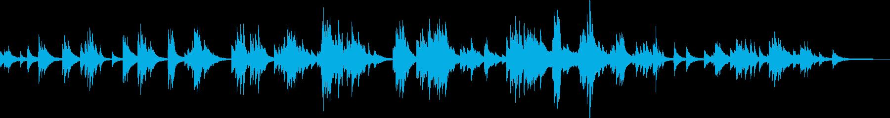 カフェと雨(ピアノ・しっとり・お洒落)の再生済みの波形