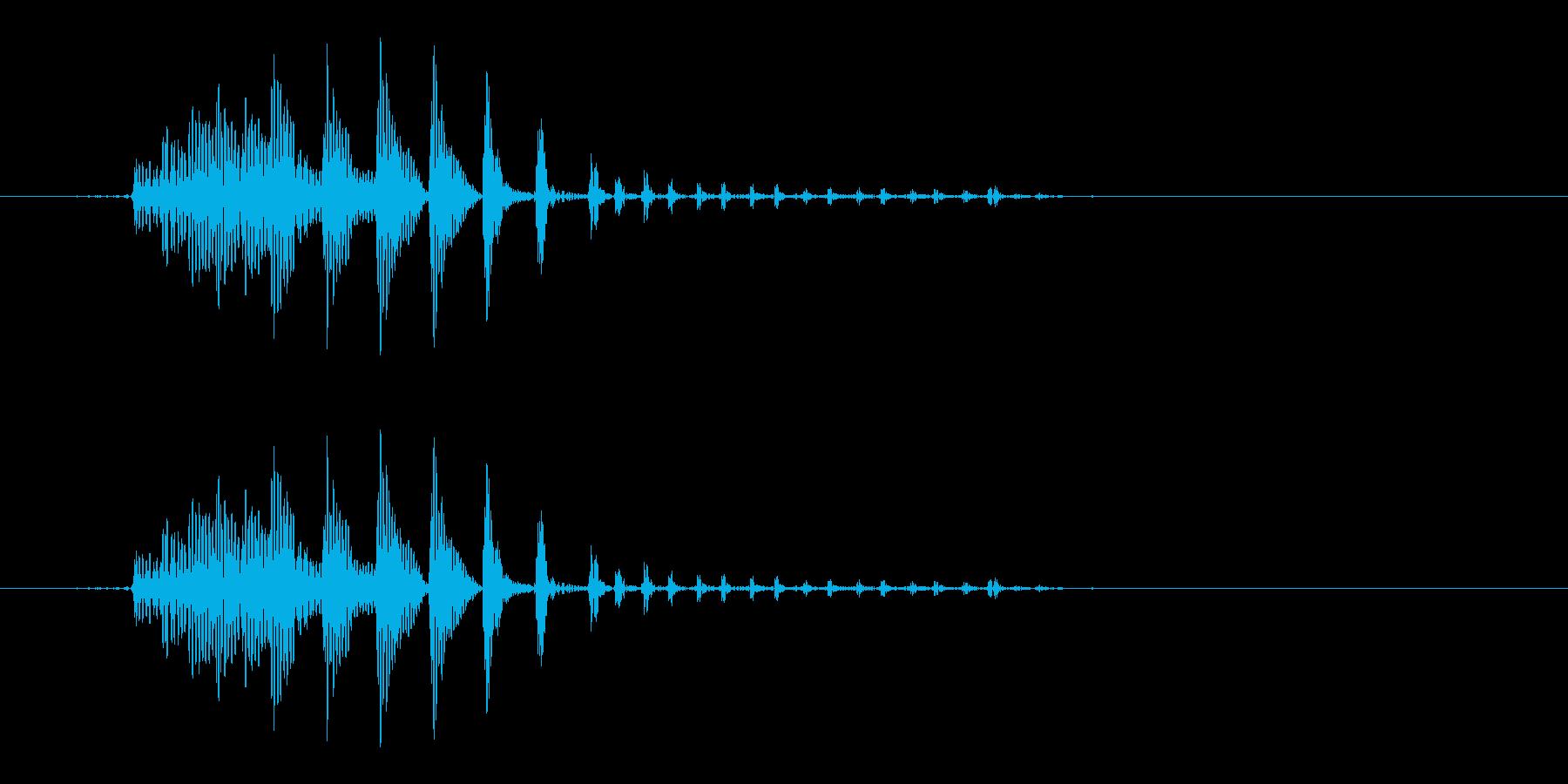 「プニ!ポヨン!」可愛い足音などに!09の再生済みの波形