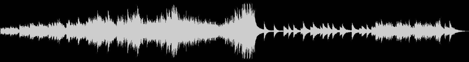 ピアノソロ始まりを想起させる高原の風の未再生の波形
