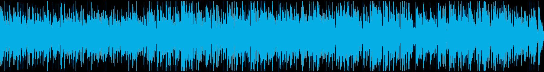 明るいお洒落サックス軽快ジャズ※ループ版の再生済みの波形