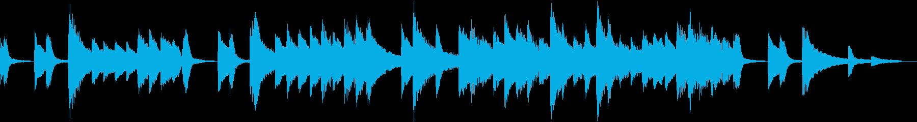 【ほのぼの系】30秒ピアノソロの再生済みの波形