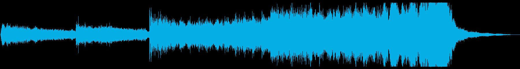 シリアスなダークファンタジーBGMの再生済みの波形