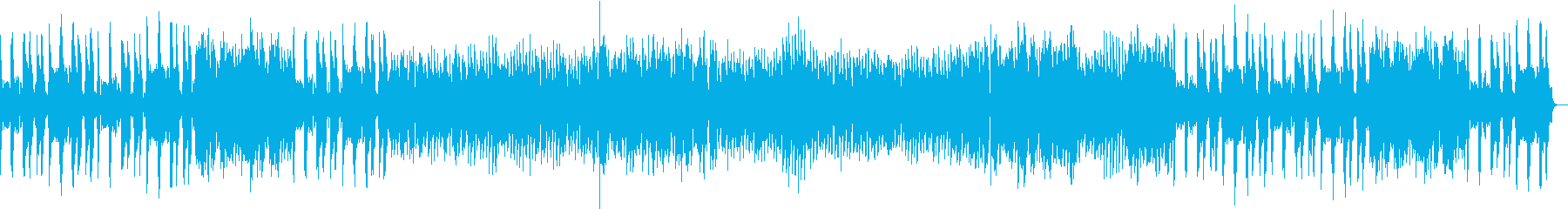 フルートとギターのスイングジャズの再生済みの波形