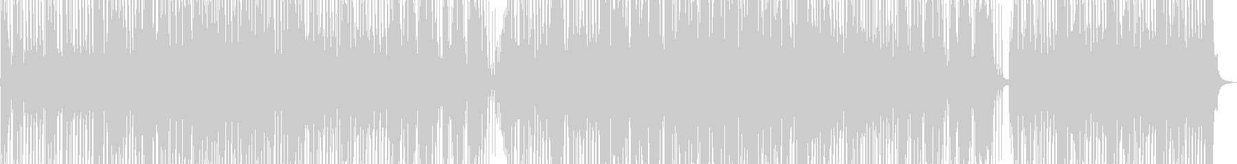 おしゃれで響きがかっこいいメロディーの未再生の波形