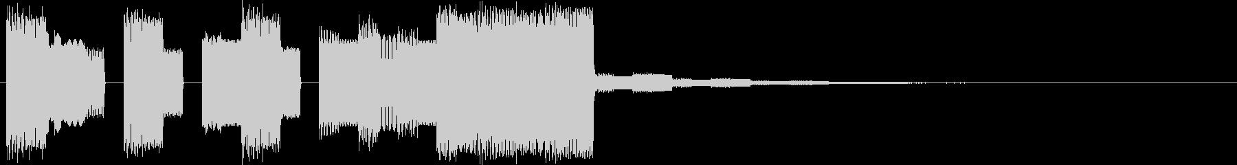 ファミコン系ピコピコ場面転換音の未再生の波形
