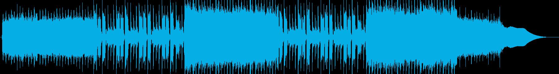 壮大なイメージのEDMロックの再生済みの波形