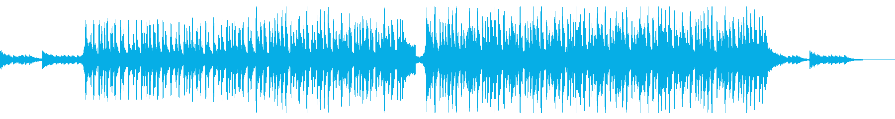 ゆったりで爽やかなアコースティック曲の再生済みの波形
