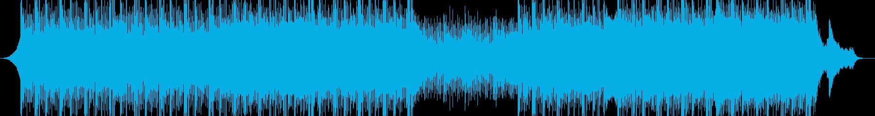 プレゼンテーション用の電子技術音楽の再生済みの波形