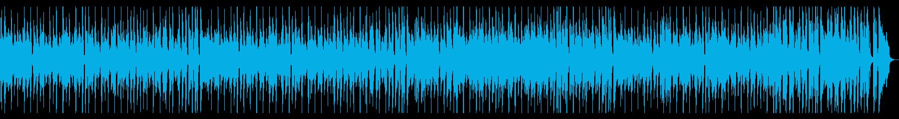 カフェムードなコミカルフレンチギターの再生済みの波形