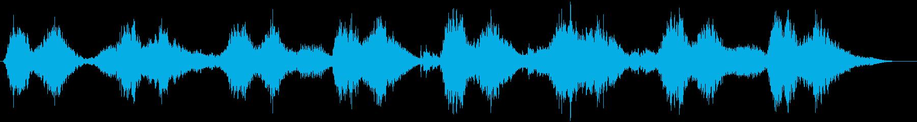 幾何学的揺らぎの不思議なシンセサウンドの再生済みの波形