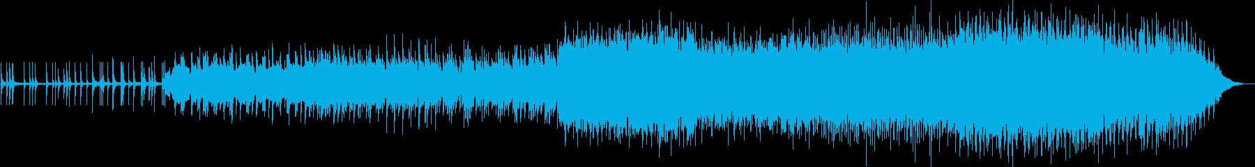 三味線とストリングスの幻想的和風BGMの再生済みの波形