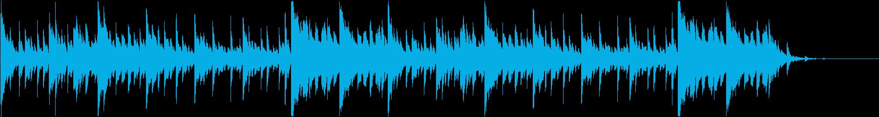 透明感のあるスロー映像・ピアノ・ループの再生済みの波形