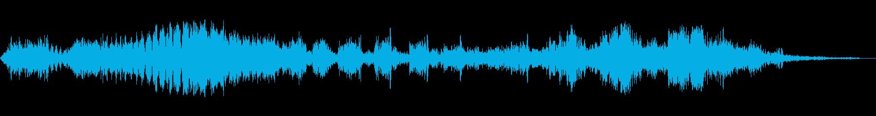 ピアス脈動スイープの再生済みの波形