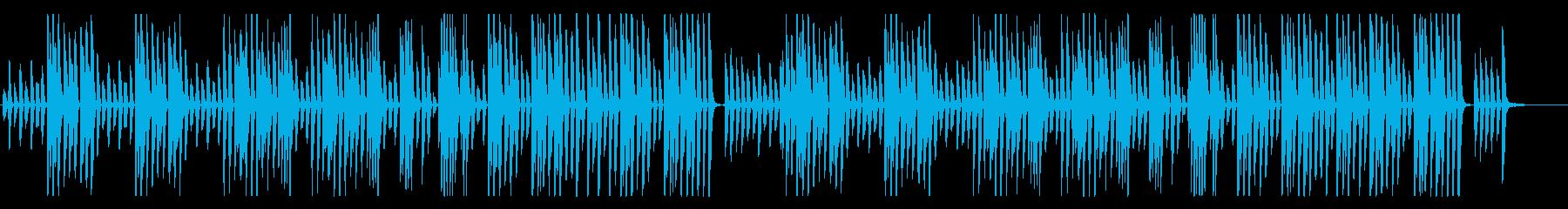 YouTube、料理、かわいい軽快ピアノの再生済みの波形