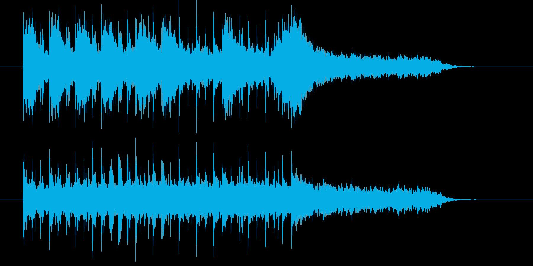 さわやかでポップな10秒ジングルの再生済みの波形