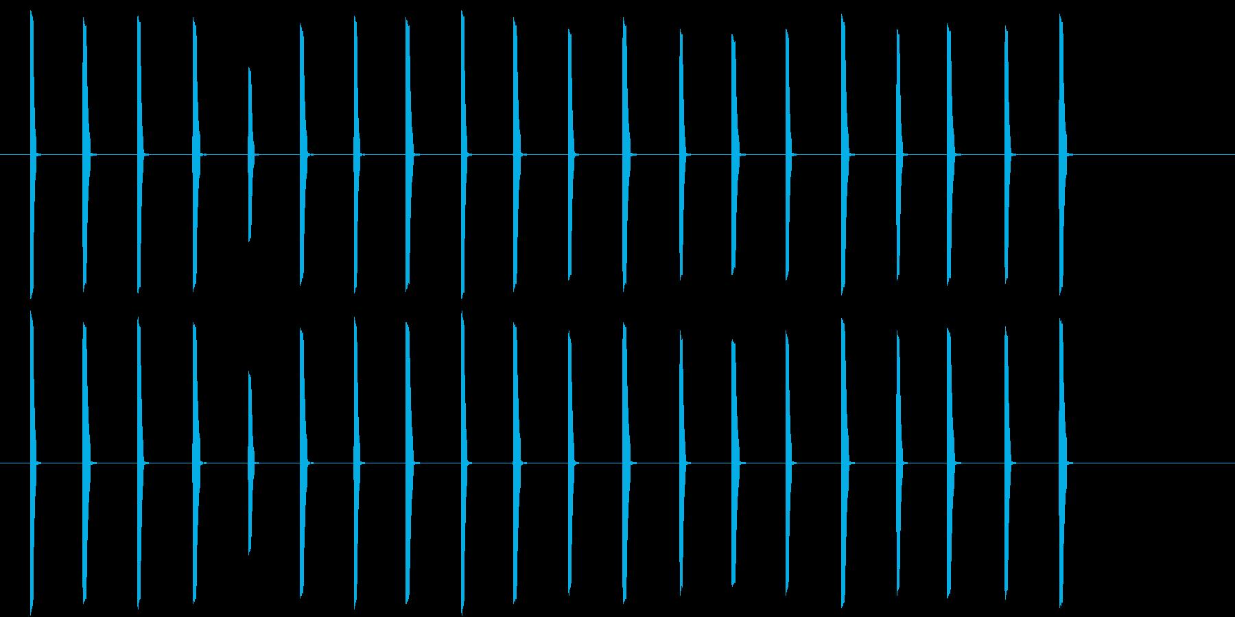 アニメ かわいい 歩く音 動物SE4の再生済みの波形