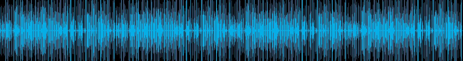 軽快でコミカルな少しとぼけた感じの楽曲の再生済みの波形