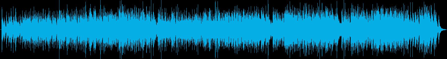 エレピとギターのゆったりとしたバラードの再生済みの波形