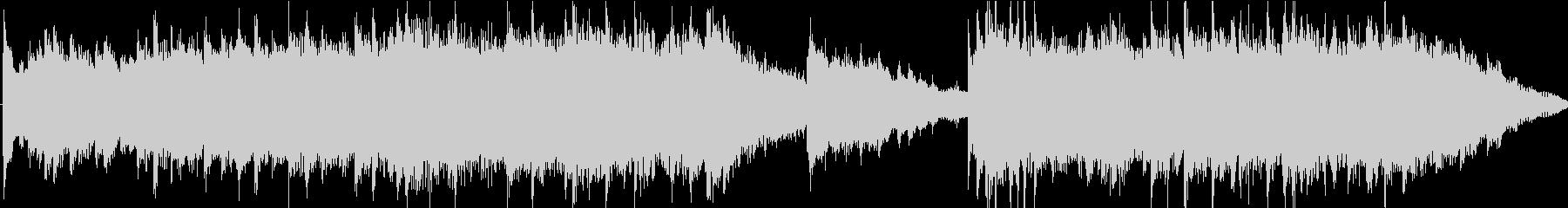 クラシカルなピアノのサウンドロゴの未再生の波形