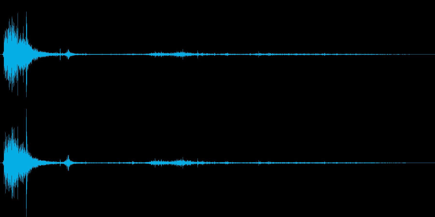 【銃声音012】ピストルの発砲音02の再生済みの波形
