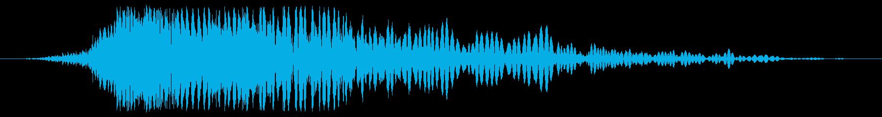急速に爆発する流星の地面への衝撃の再生済みの波形