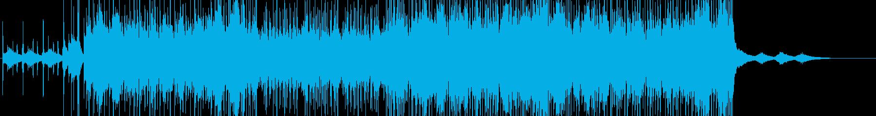 ドラム激しめのホラー系BGM の再生済みの波形