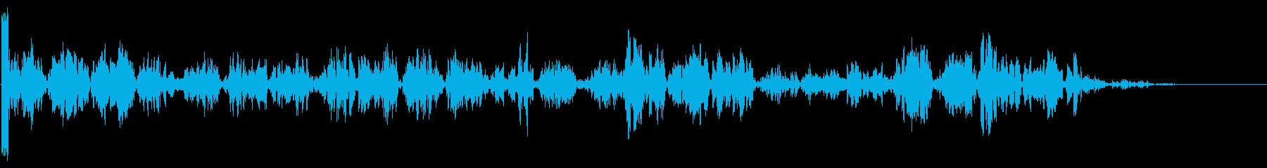 ノイズフロアの再生済みの波形