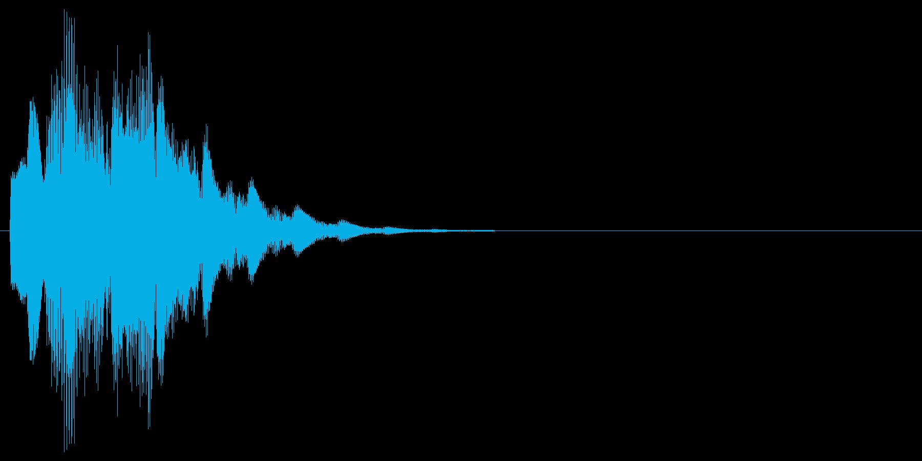 メッセージを通知する時の効果音の再生済みの波形