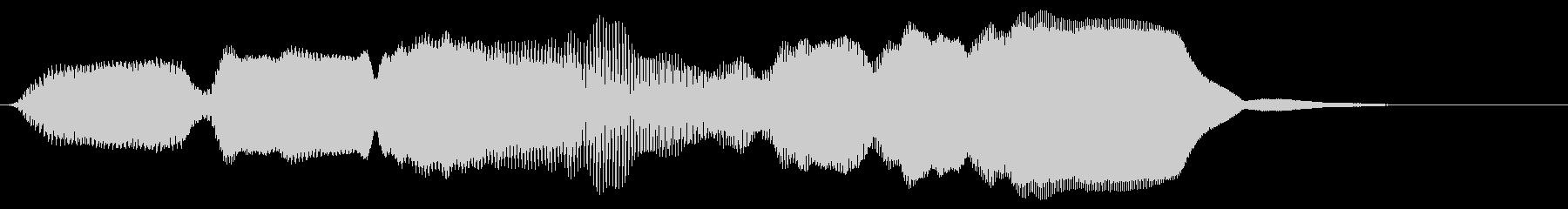 ドレミファソラシド 上昇 リコーダーの未再生の波形