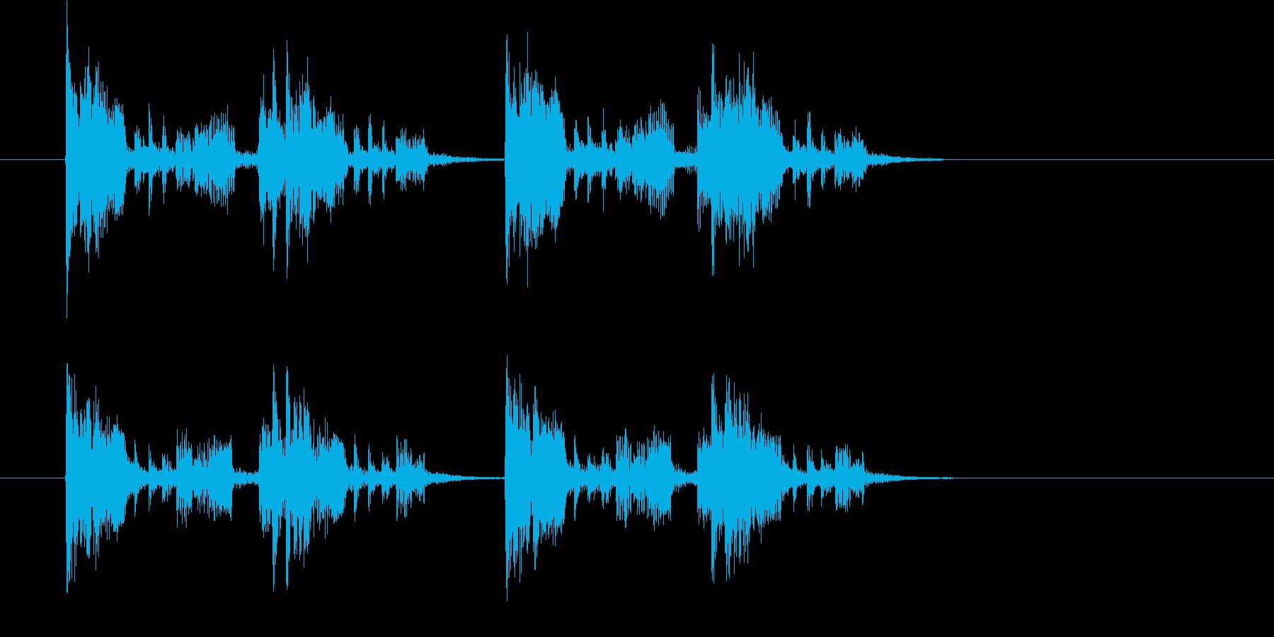 疾走感のあるジングル、サウンドロゴの再生済みの波形