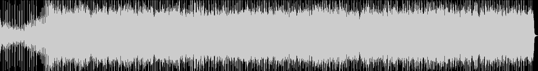 軽快なシンセサイザーの心地よいサウンドの未再生の波形