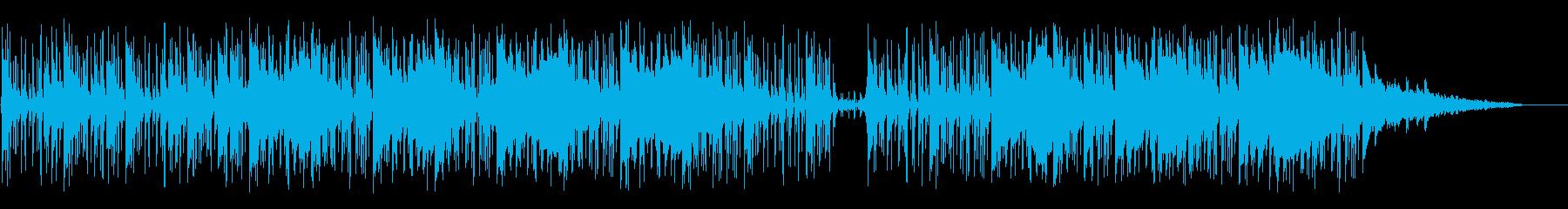 ソフトなピアノとホーンの再生済みの波形