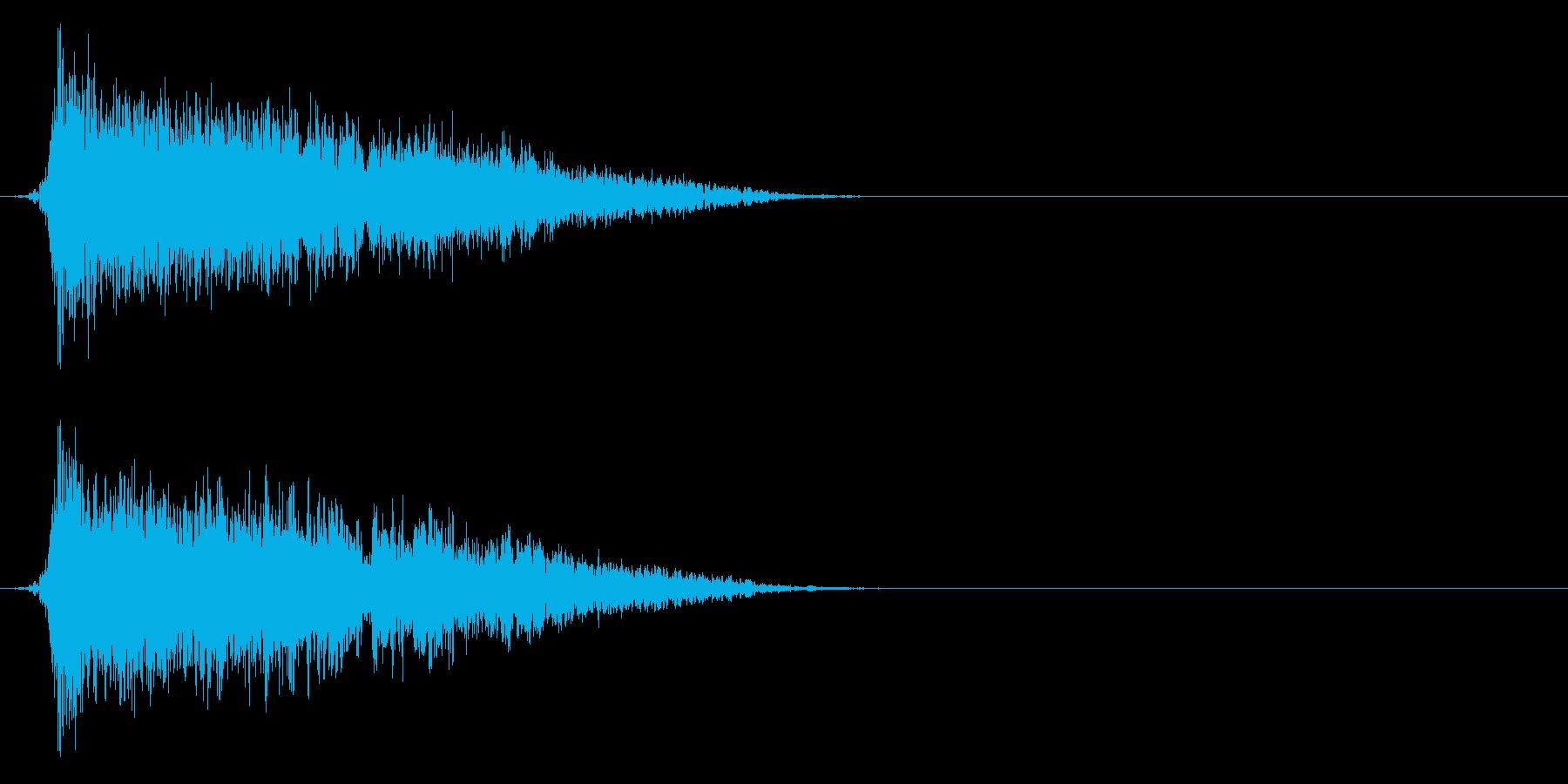 コミカルなダッシュ!ジャンプの効果音5bの再生済みの波形
