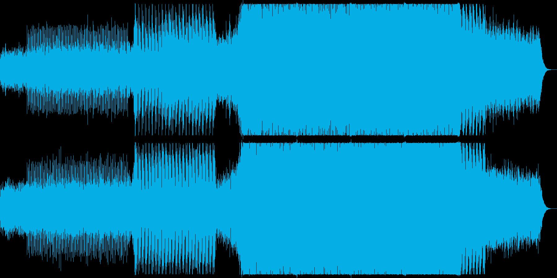 どこか哀愁漂うピアノテクノの再生済みの波形
