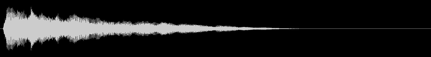 強化されたプラクテッドシンセアクセント1の未再生の波形