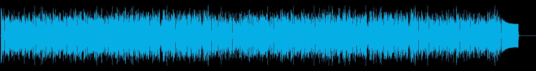 清らかで明るいイメージのBGMの再生済みの波形