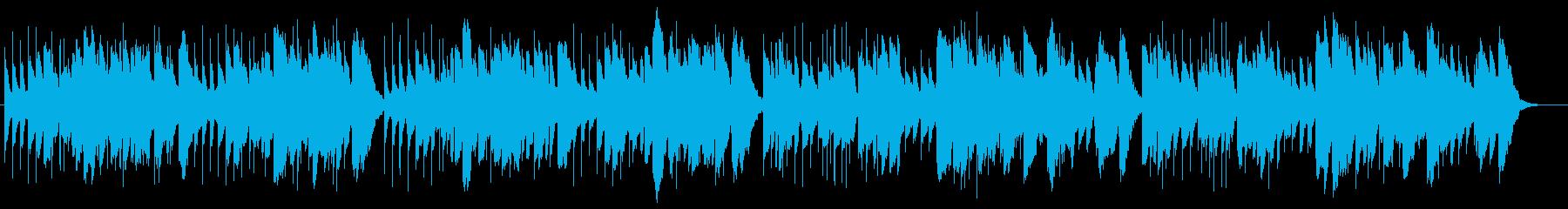 切なくゆったりとしたオルゴール曲の再生済みの波形