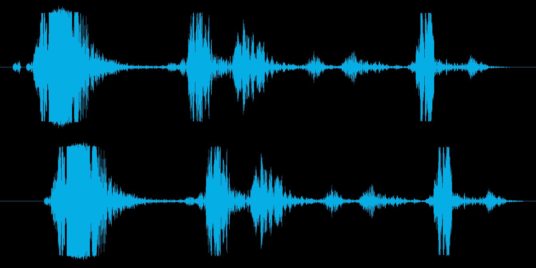 鞭や攻撃、ヌンチャク等の風切り音に最適!の再生済みの波形