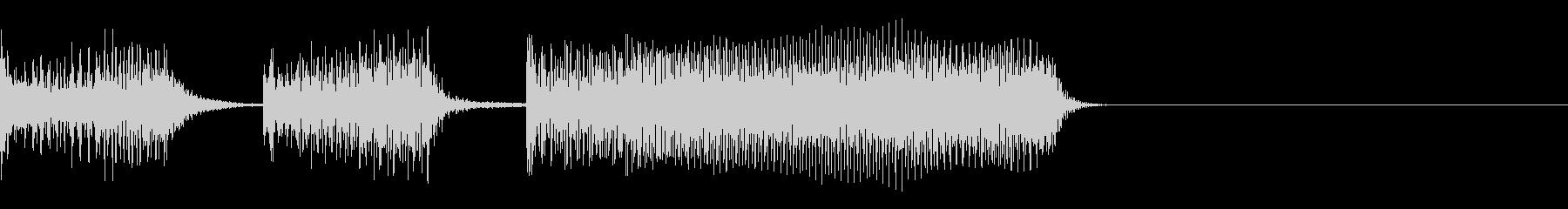 ファミコン テッテレー(レベルアップ)の未再生の波形