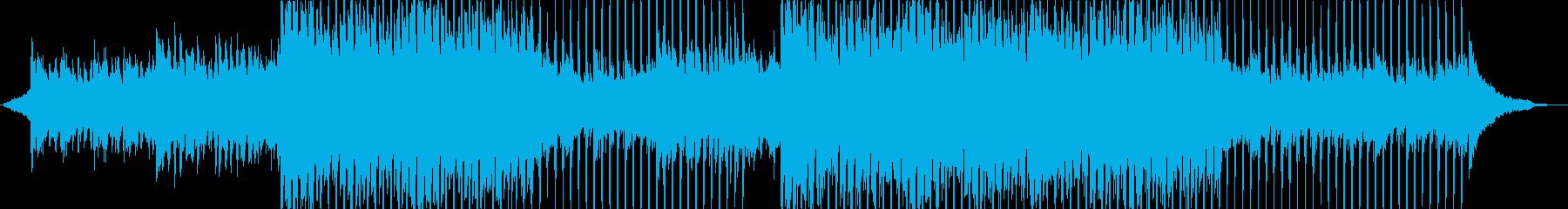 企業系 ピアノとアコースティックギターの再生済みの波形