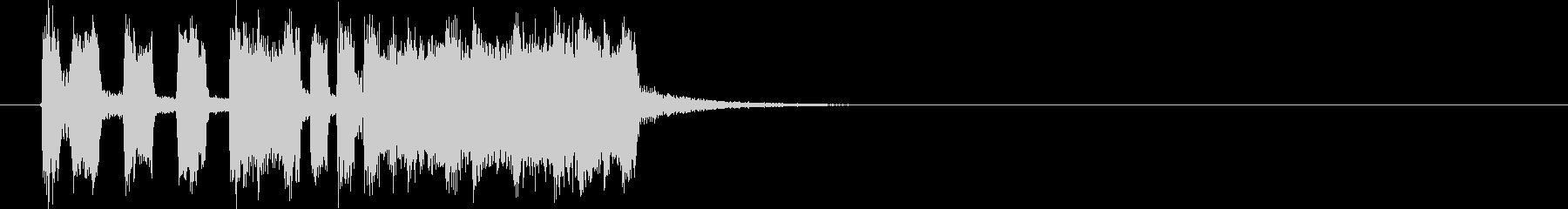 勢いと盛大なシンセサウンド短めの未再生の波形