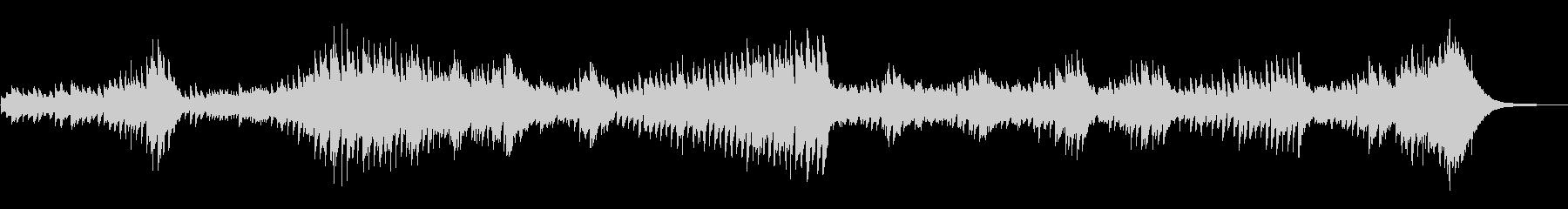 暗闇をイメージさせる重々しいピアノ曲の未再生の波形