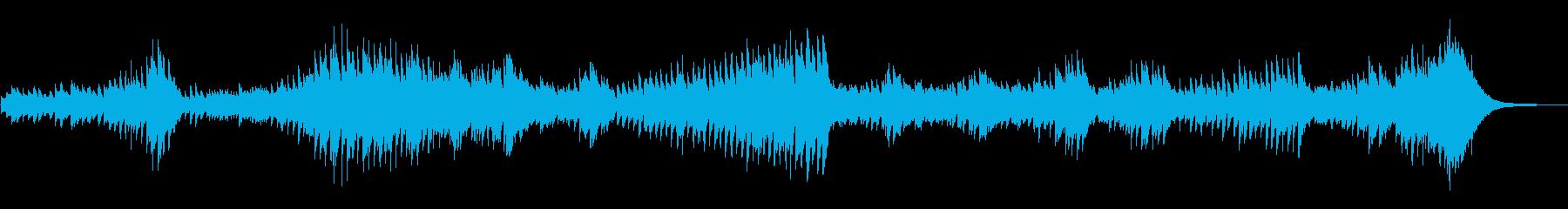 暗闇をイメージさせる重々しいピアノ曲の再生済みの波形