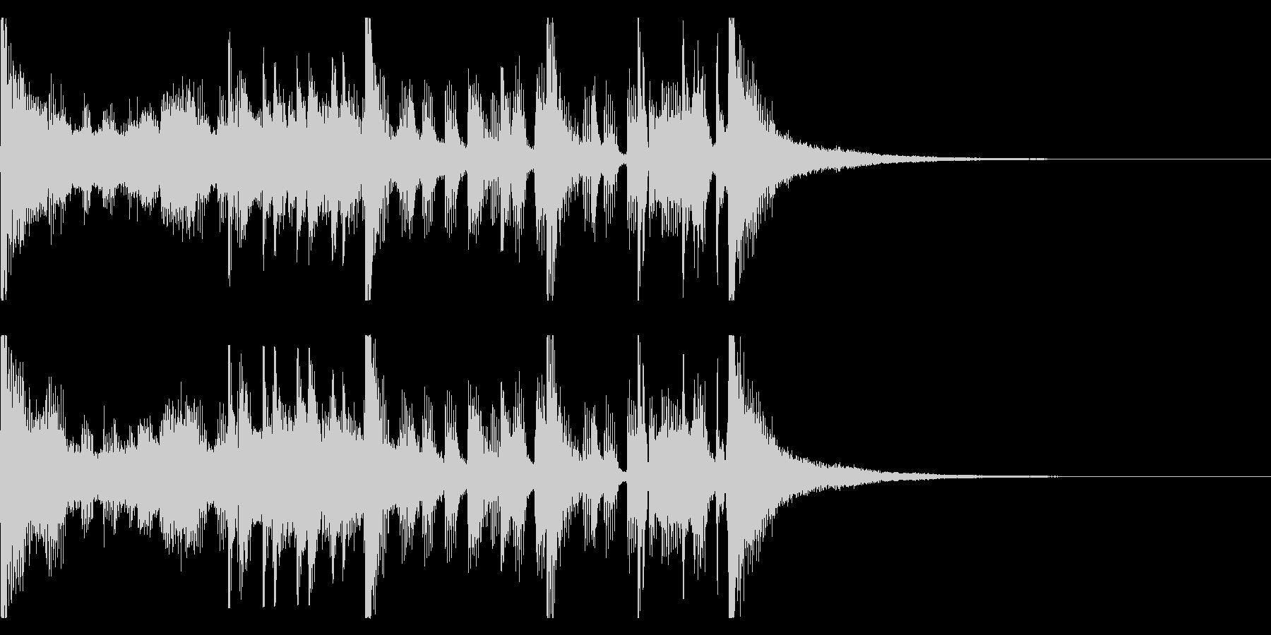 ジングルやCMに。ファンキーな曲2の未再生の波形
