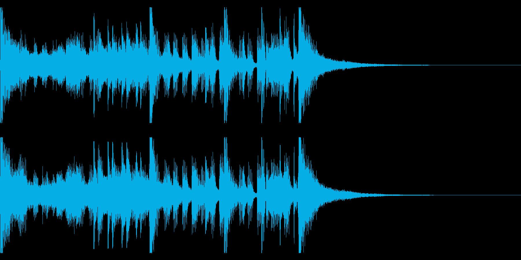 ジングルやCMに。ファンキーな曲2の再生済みの波形