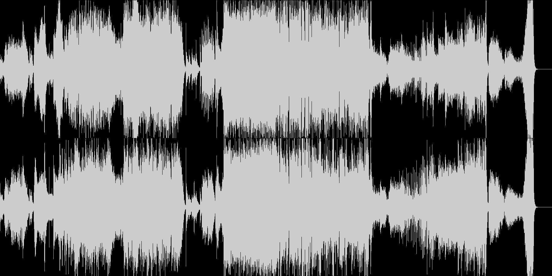 オーケストラと和楽器 尺八 武士道の未再生の波形